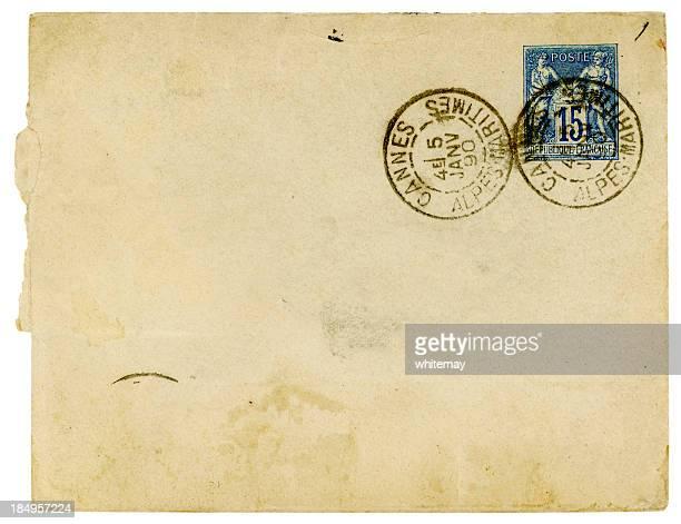 Envelope publicado em Cannes, França, 1890