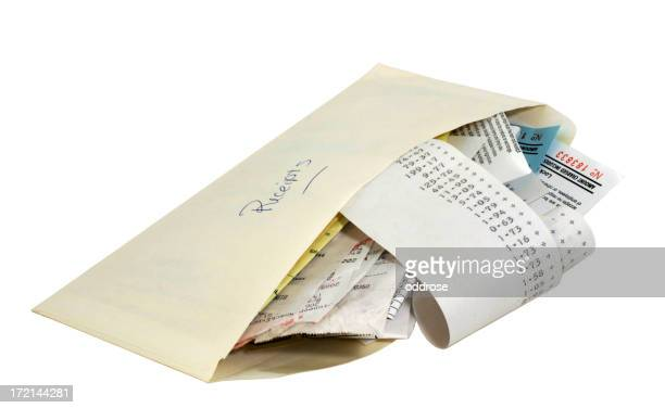 Envelope with receipts