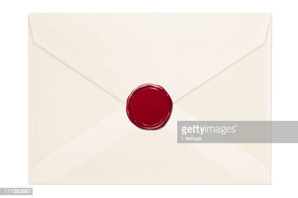 封筒をワックスシール