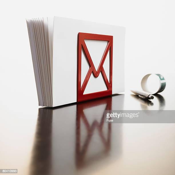 Envelopes in Letter Holder