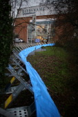 Enviroment Agency flood defences have been put in place next to the river Wey on January 7 2014 in Guildford England Parts of the United Kingdom are...