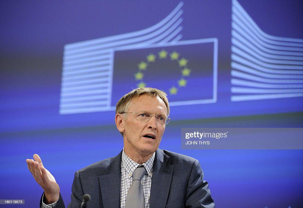 EU environement commissioner Janez Potocnik gives a press conference on September 9, 2013 about new legislation to protect biodiversity against problematic invasive species in Brussels.