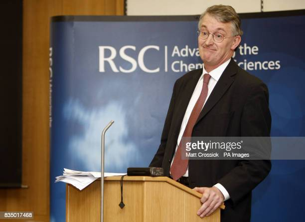 Environment Food and Rural Affairs Secretary Hilary Benn speaks at the launch of 'The Vital Ingredient Chemical Science and Engineering for...