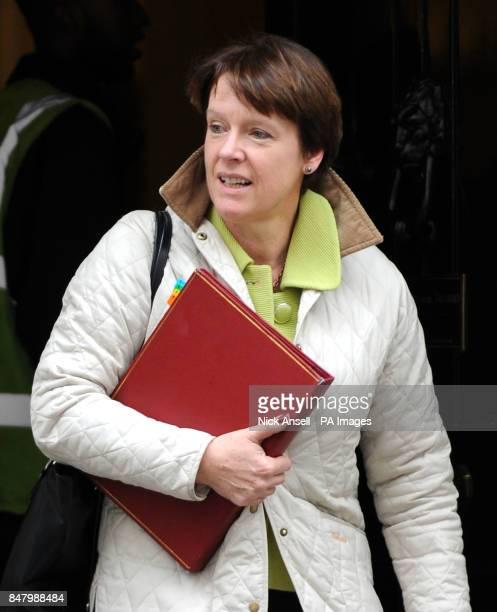 Environment Secretary Caroline Spelman leaves 10 Downing Street London following a cabinet meeting