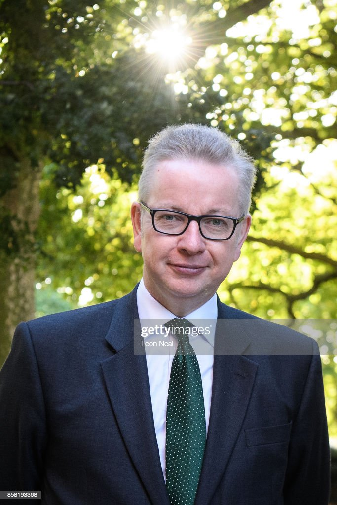Environment Secretary Michael Gove leaves a television studio in Westminster on October 6, 2017 in London, England. Mr Gove was appearing on TV to show his support for British Prime Minister Theresa May but former Tory Party Chairman Grant Schapps has publicly stated that a number of Conservative Ministers have reached the decision that Prime Minister May should resign, causing further splits in the party.