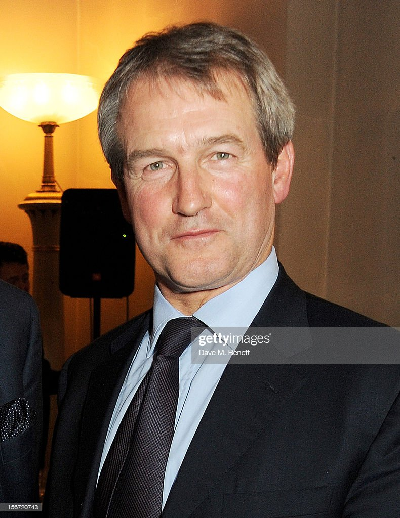 Environment Secretary Owen Paterson MP attend the Maastricht Rebellion 20th Anniversary dinner at The Landsdowne Club on November 19 2012 in London...