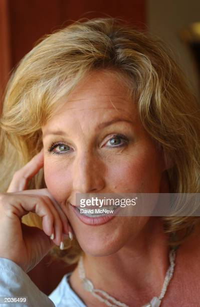 Environmental activist Erin Brockovich poses for a picture May 28 2003 in Los Angeles Brockovich said that her case concerning cancer victims from...