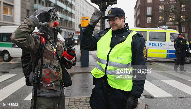 Environmental activists hold a demonstration in the centre of Copenhagen on December 15 2009 in Denmark World leaders started arriving today to...