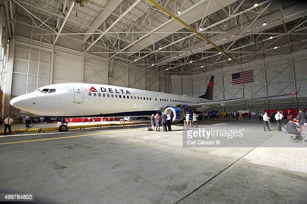 Environmental Photo from the 5th Annual Delta Air Lines 'Holiday In The Hangar' With CHLA And PS Arts Youth at LAX Airport on December 2 2015 in Los...