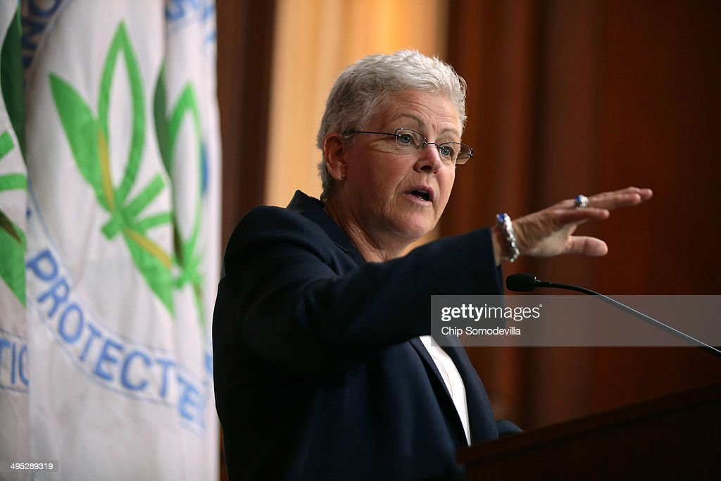 U.S. Environmental Protection Agency Administrator <a gi-track='captionPersonalityLinkClicked' href=/galleries/search?phrase=Gina+McCarthy&family=editorial&specificpeople=7904226 ng-click='$event.stopPropagation()'>Gina McCarthy</a> announces new regulations for power plants June 2, 2014 in Washington, DC. Bypassing Congress and using President Barack Obama's 'Climate Action Plan,' the new regulations will force more than 600 existing coal-fired power plants, the single largest source of greenhouse gas emission in the country, to reduce their carbon pollution 30 percent from 2005 levels by 2030.
