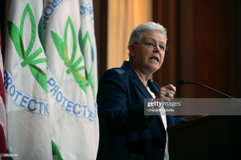 U.S. Environmental Protection Agency Administrator <a gi-track='captionPersonalityLinkClicked' href=/galleries/search?phrase=Gina+McCarthy&family=editorial&specificpeople=7904226 ng-click='$event.stopPropagation()'>Gina McCarthy</a> announces new regulations for power plants at EPA headquarters June 2, 2014 in Washington, DC. Bypassing Congress and using President Barack Obama's 'Climate Action Plan,' the new regulations will force more than 600 existing coal-fired power plants, the single largest source of greenhouse gas emission in the country, to reduce their carbon pollution 30 percent from 2005 levels by 2030.