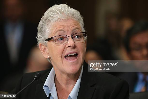 Environmental Protection Agency Administrator Gina McCarthy testifies before the Senate Environmental and Public Works Committee about the Gold King...