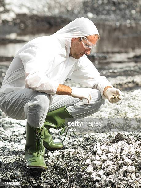 Environmental researcher bei der Arbeit