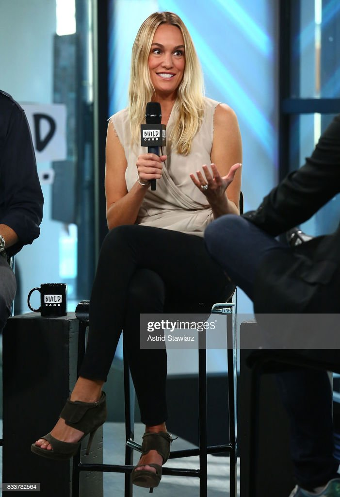 Environmentalist Ashlan Cousteau discusses her Travel Channel show 'Caribbean Pirate Treasure' at Build Studio on August 17, 2017 in New York City.