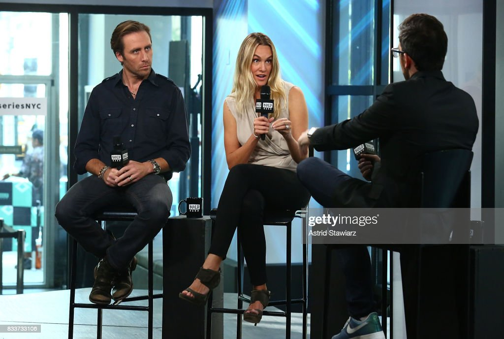 Environmentalists Philippe Cousteau and Ashlan Cousteau discuss their Travel Channel show 'Caribbean Pirate Treasure' at Build Studio on August 17, 2017 in New York City.