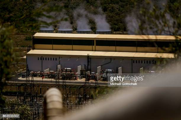 Environmentally friendly and renewable energy generation in the Olkaria II geothermal power station in Hells´s Gate National Park on October 08 2017...