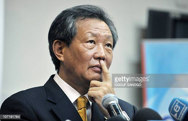 UN envoy to the divided west African country Younjin Choi gives a press conference on November 29 2010 in Abidjan a day after Ivory Coast's second...