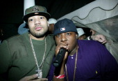 DJ Envy and Jadakiss during Carmelo Anthony's NBA AllStar Party Hosted by Nelly at Palladium in Denver Colorado United States
