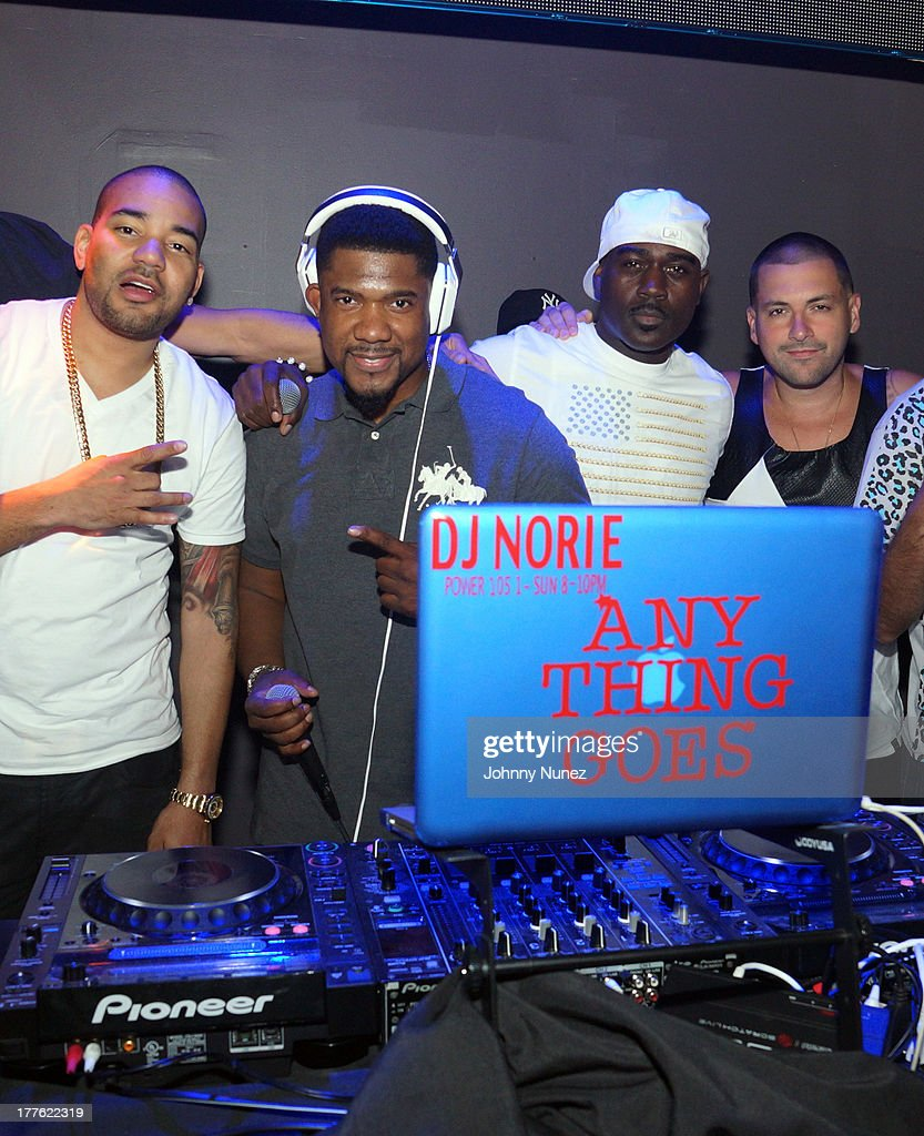 DJ Envy, DJ Norie, Tali Gore, and DJ Prostyle attend the We The Best Day Party at Stage 48 on August 24, 2013 in New York City.