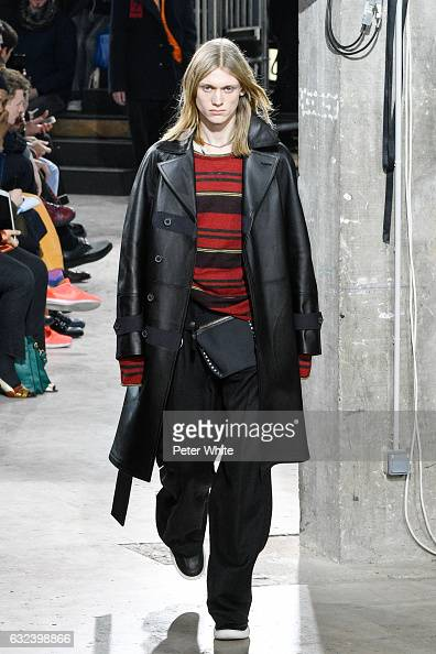 Enzo Brumm walks the runway during the Lanvin Menswear Fall/Winter 20172018 show as part of Paris Fashion Week on January 22 2017 in Paris France