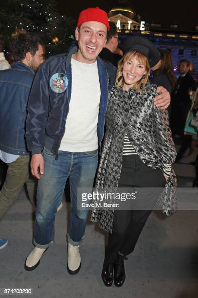Enzo Cilenti and Sienna Guillory attend the opening party of Skate at Somerset House with Fortnum Mason on November 14 2017 in London England...
