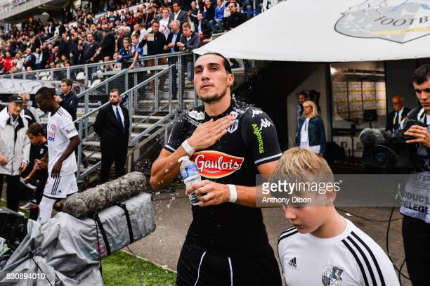 Enzo Crivelli of Angers during the Ligue 1 match between Amiens SC and Angers SCO at Stade de la Licorne on August 12 2017 in Amiens