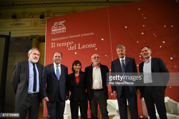 Enzo D'Antona CEO of Generali Group Philippe Roger Donnet Debora Serracchiani Paolo Rumiz President of Generali Group Gabriele Galateri di Genola and...