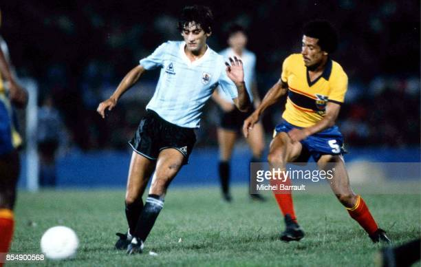 Enzo FRANCESCOLI Uruguay / Equateur Qualifications Coupe du Monde 1986