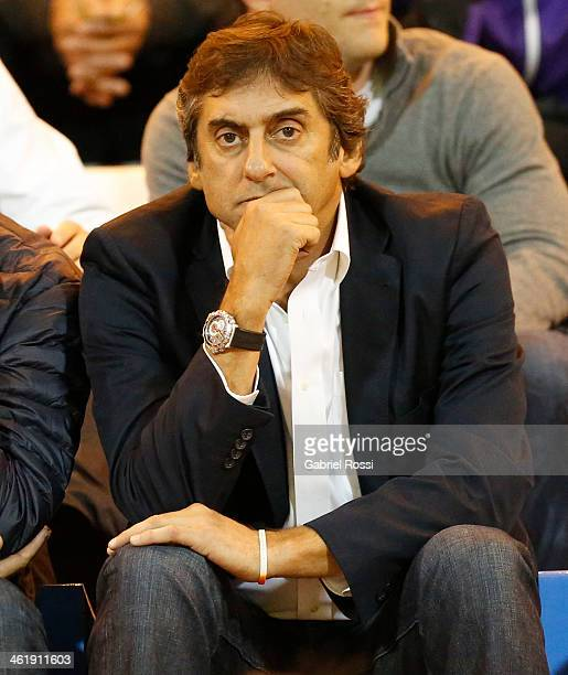 Enzo Francescoli sports manager of River Plate before a match as part of the summer friendly tournament Copa de Oro Mar del Plata Pirelli 2014 at...