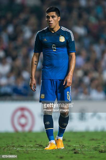 Enzo Perez of Argentina in action during the HKFA Centennial Celebration Match between Hong Kong and Argentina at the Hong Kong Stadium on 14th...