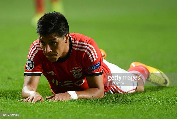 Enzo Perez of SL Benfica in action during the UEFA Champions League group stage match between SL Benfica and RSC Anderlecht held on September 17 2013...