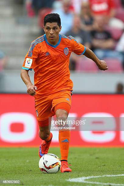 Enzo Perez of Valencia runs with the ball during the Colonia Cup 2015 match between FC Valencia and FC Porto at RheinEnergieStadion on August 1 2015...
