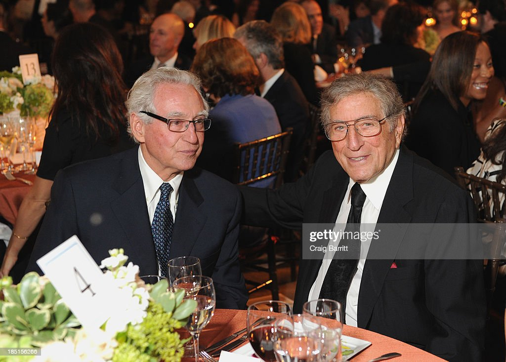 Enzo Viscusi, and Tony Bennett attend The Norman Mailer Center Fifth Annual Benefit Gala at The New York Public Library at The New York Public Library on October 17, 2013 in New York City.