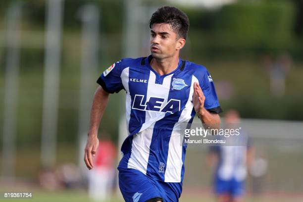 Enzo Zidane of Alaves during the friendly match between Toulouse FC and Deportivo Alaves on July 19 2017 in Saint Jean de Luz France