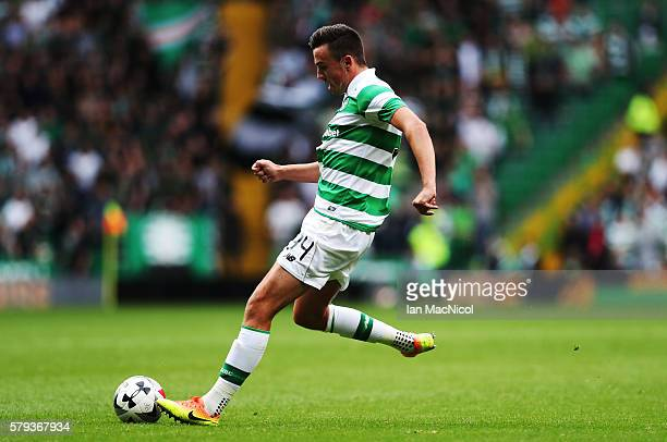 Eoghan O'Connell of Celtic scores during the Pre Season Friendly match between Celtic and Leicester City at Celtic Park Stadium on July 23 2016 in...