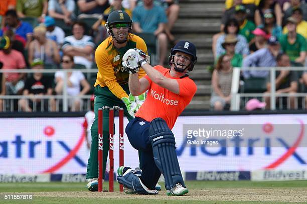 Eoin Morgan of England in action during the 2nd T20 International match between South African and England at Bidvest Wanderers Stadium on February 21...