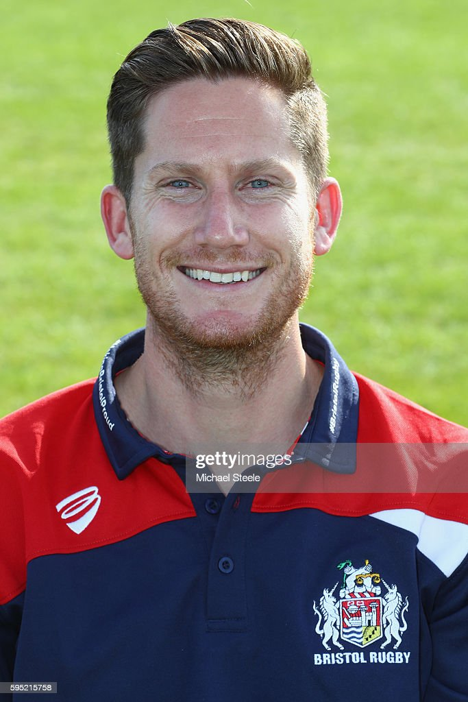 Eoin Power First Team Physio poses for a portrait during the Bristol Rugby squad photo call for the 20162017 Aviva Premiership Rugby season on August...