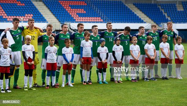 Eoin Toal and goalkeeper Declan Dunne and Reece McGinley and Christopher Gallagher and Caolan Boyd Munce and Robert Burns and Christopher Crane and...