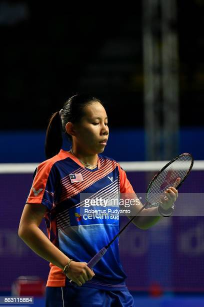Eoon Qi Xuan of Malaysia competes against Chaiwan Pattarasuda of Thailand during Women's Singles Round 16 match of the BWF World Junior Championships...