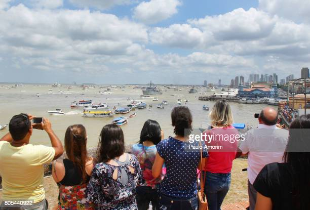 eople Enjoying the view at Fluvial Procession in Brazil