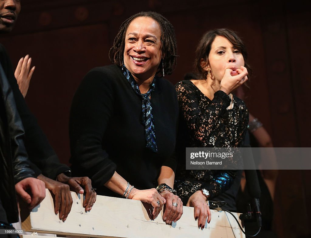 S. Epatha Merkerson and Elizabeth Rodriguez onstage at LAByrinth Theater Company Celebrity Charades 2013 Benefit Gala at Capitale on January 14, 2013 in New York City.