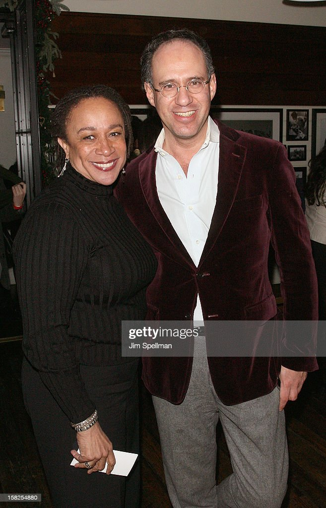 S. Epatha Merkerson and founder of the Cinema Society Andrew Saffir attend The Weinstein Company with The Hollywood Reporter, Samsung Galaxy & The Cinema Society screening of 'Django Unchained' after party at the The Standard Hotel on December 11, 2012 in New York City.