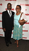 S Epatha Merkerson and guest during 1800 Tequila Usher Makes his Broadway Debut in 'Chicago' Arrivals at Ambassador Theater in New York City New York...