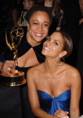 S Epatha Merkerson and Halle Berry during The 57th Annual Emmy Awards Governors Ball at Shrine Auditorium in Los Angeles California United States