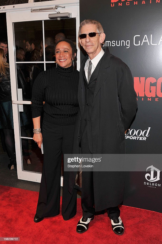 S. Epatha Merkerson and Richard Belzer attend a screening of 'Django Unchained' hosted by The Weinstein Company with The Hollywood Reporter, Samsung Galaxy and The Cinema Society at Ziegfeld Theater on December 11, 2012 in New York City.