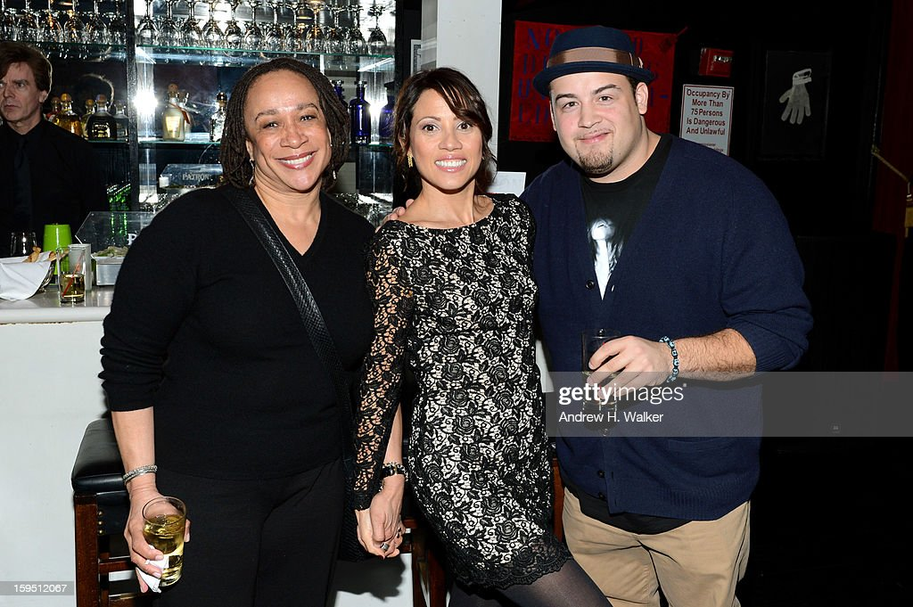 S. Epatha Merkerson, Elizabeth Rodriguez and David Zayas Jr. at LAByrinth Theater Company Celebrity Charades 2013 Benefit Gala at Capitale on January 14, 2013 in New York City.