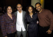 S Epatha Merkerson George C Wolfe director Halle Berry executive producer and Ruben SantiagoHudson writer/executive producer of 'Lackawanna Blues'