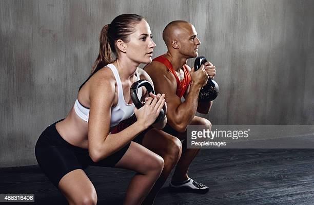 Epische Fitnessstudio session läuft