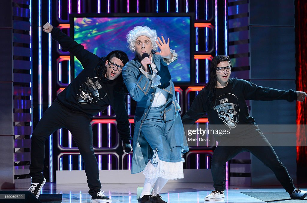 Epic Rap Battles of History and Skrillex performs during 'The Big Live Comedy Show' presented by YouTube Comedy Week held at Culver Studios on May 19, 2013 in Culver City, California.