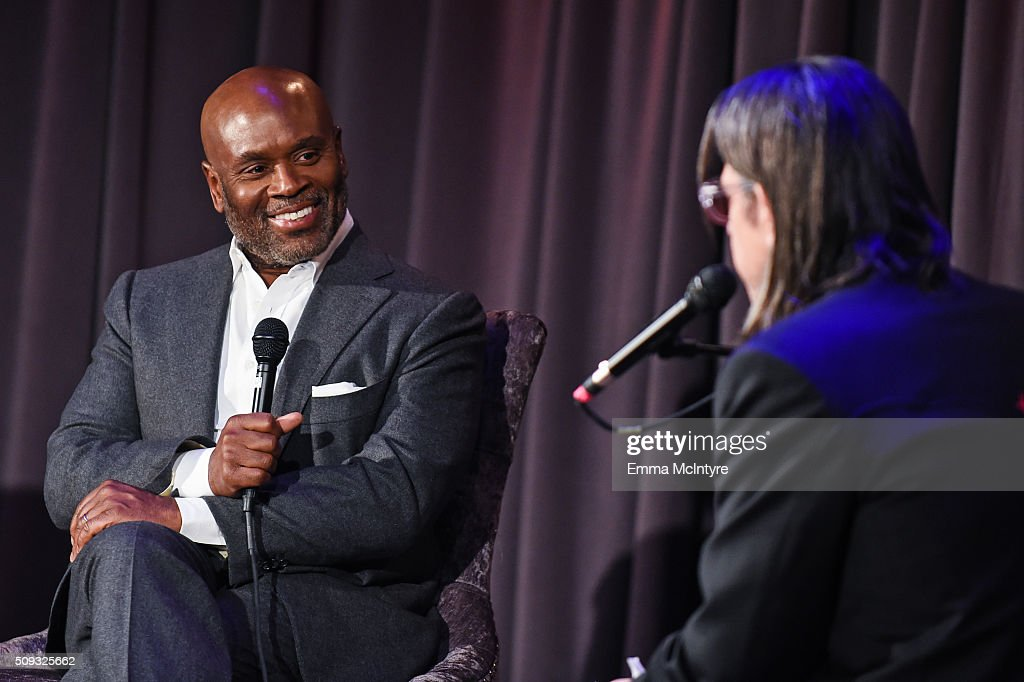 Epic Records CEO/Chairman <a gi-track='captionPersonalityLinkClicked' href=/galleries/search?phrase=L.A.+Reid&family=editorial&specificpeople=2546947 ng-click='$event.stopPropagation()'>L.A. Reid</a> speaks onstage with Vice President of the GRAMMY Foundation <a gi-track='captionPersonalityLinkClicked' href=/galleries/search?phrase=Scott+Goldman&family=editorial&specificpeople=2748376 ng-click='$event.stopPropagation()'>Scott Goldman</a> at Icons of the Music Industry at The GRAMMY Museum on February 9, 2016 in Los Angeles, California.